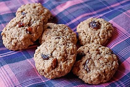 Haferflocken-Cookies mit Rosinen und Ingwer