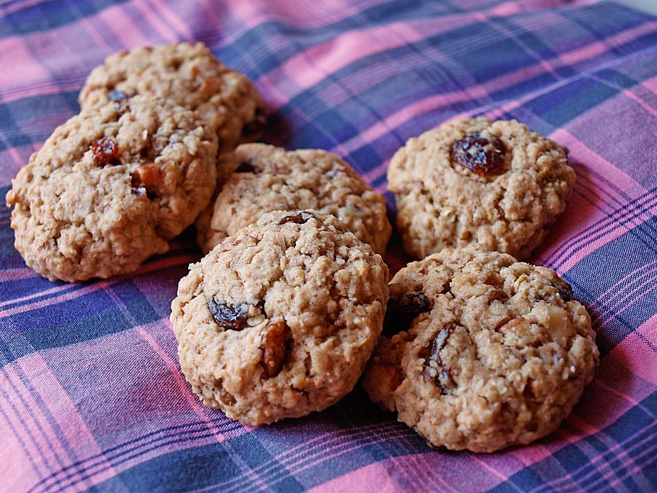 haferflocken cookies mit rosinen und ingwer rezept mit bild. Black Bedroom Furniture Sets. Home Design Ideas