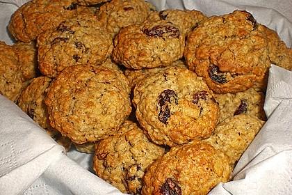 Haferflocken-Cookies mit Rosinen und Ingwer 1