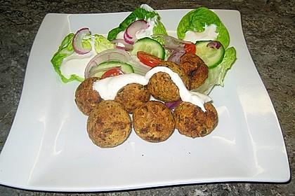 Schnelle Falafel aus Kichererbsenmehl 5