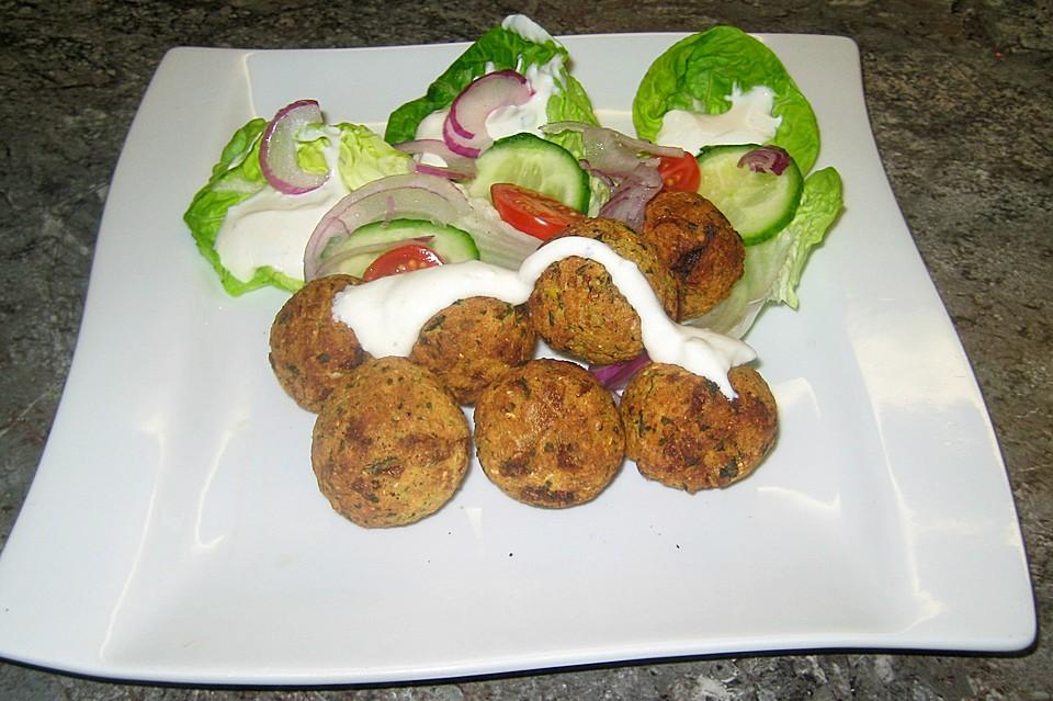 Schnelle Falafel aus Kichererbsenmehl (Rezept mit Bild)   Chefkoch.de
