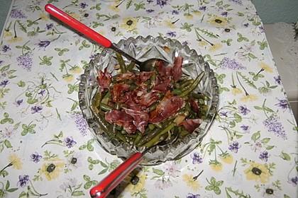 Grüne Bohnen mit braunem Zucker und weißem Balsamico 3
