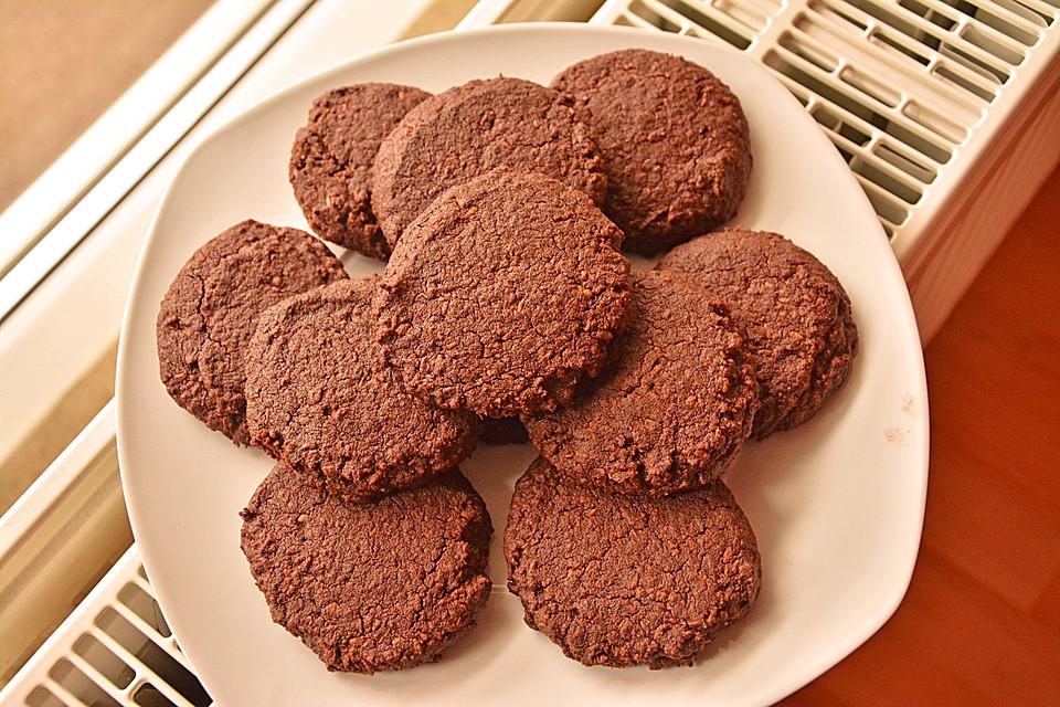 vegane american schoko cookies mit gehackten mandeln von froilein gertrude. Black Bedroom Furniture Sets. Home Design Ideas