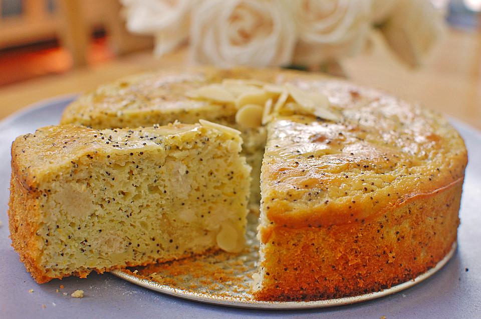 Ananas-Marzipan-Kuchen mit Mohn