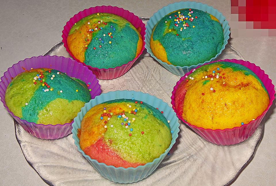 schnelle rainbow muffins rezept mit bild von schleckermaus95. Black Bedroom Furniture Sets. Home Design Ideas