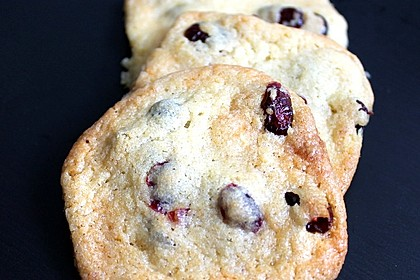 Cranberry White Chocolate Cookies 5