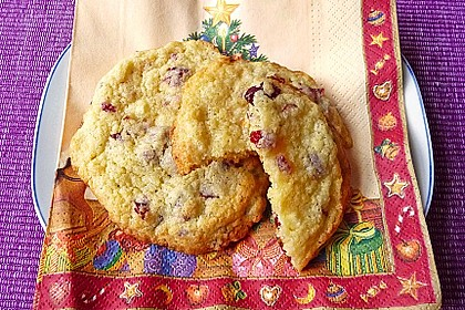 Cranberry White Chocolate Cookies 11