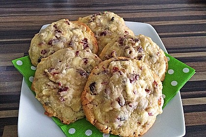 Cranberry White Chocolate Cookies 6