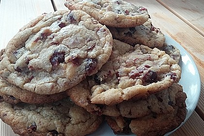 Cranberry White Chocolate Cookies 15