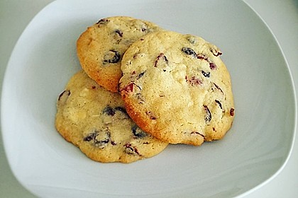 Cranberry White Chocolate Cookies 3