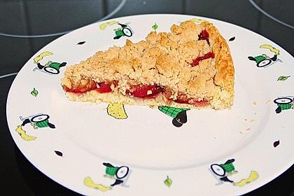 Veganer Zwetschgenkuchen mit Zimtstreuseln 11