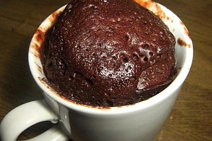 3 Minuten Nutella Mugcake 15