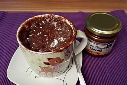 3 Minuten Nutella Mugcake 22