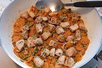 Lachs-Gemüsepfanne mit Ingwer und Koriander 2