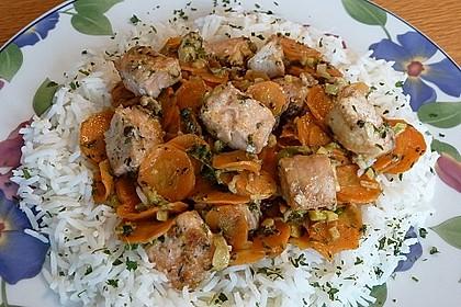 Lachs-Gemüsepfanne mit Ingwer und Koriander 1