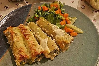 Cannelloni mit Brokkoli-Champignon-Füllung 4