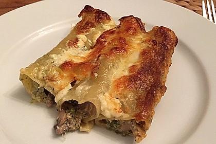 Cannelloni mit Brokkoli-Champignon-Füllung 2
