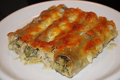 Cannelloni mit Brokkoli-Champignon-Füllung 1