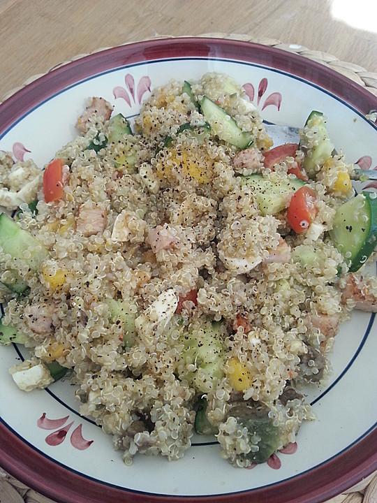 quinoa salat mit flusskrebsen rezept mit bild von miez23. Black Bedroom Furniture Sets. Home Design Ideas