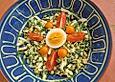 krümeltigers Schnittlauchsalat mit Ei und Mungbohnen-Sprossen