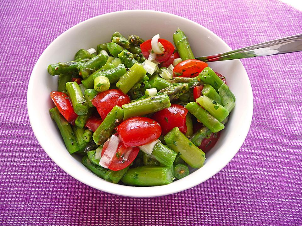 Warmer spargelsalat tomaten