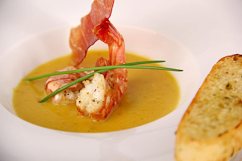 butternut-kürbissuppe mit garnelen (rezept mit bild) | chefkoch.de - Kürbissuppe Rezept Chefkoch