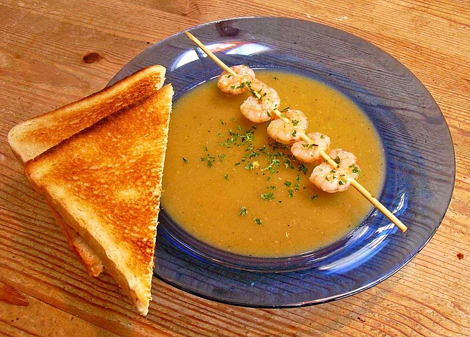 Chefkoch de kürbissuppe  Butternut-Kürbissuppe mit Garnelen (Rezept mit Bild) | Chefkoch.de