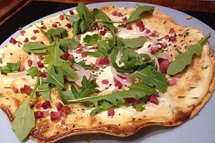 Flammkuchen mit Tortilla-Wrap
