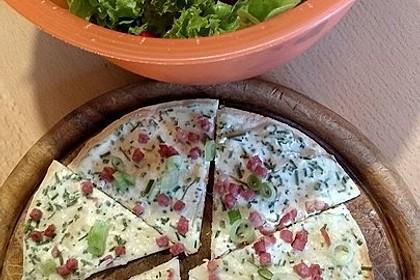 Flammkuchen mit Tortilla-Wrap 7