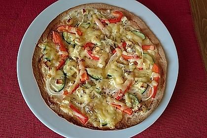 Flammkuchen mit Tortilla-Wrap 16