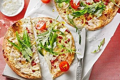 Flammkuchen mit Tortilla-Wrap 1