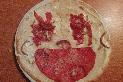 Flammkuchen mit Tortilla-Wrap 34
