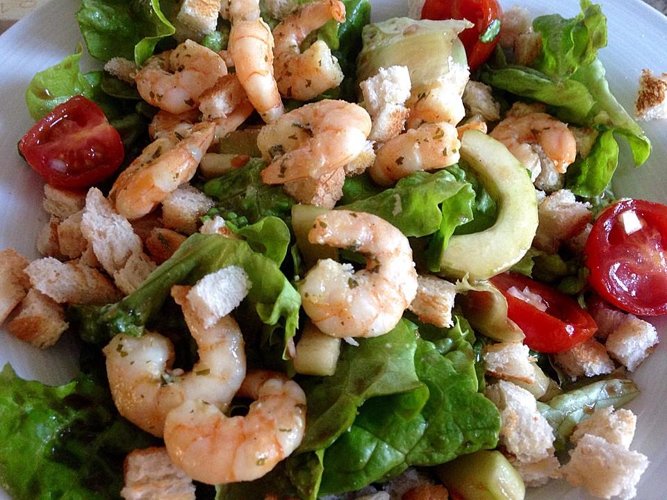 gemischter salat mit warmen shrimps rezept mit bild. Black Bedroom Furniture Sets. Home Design Ideas