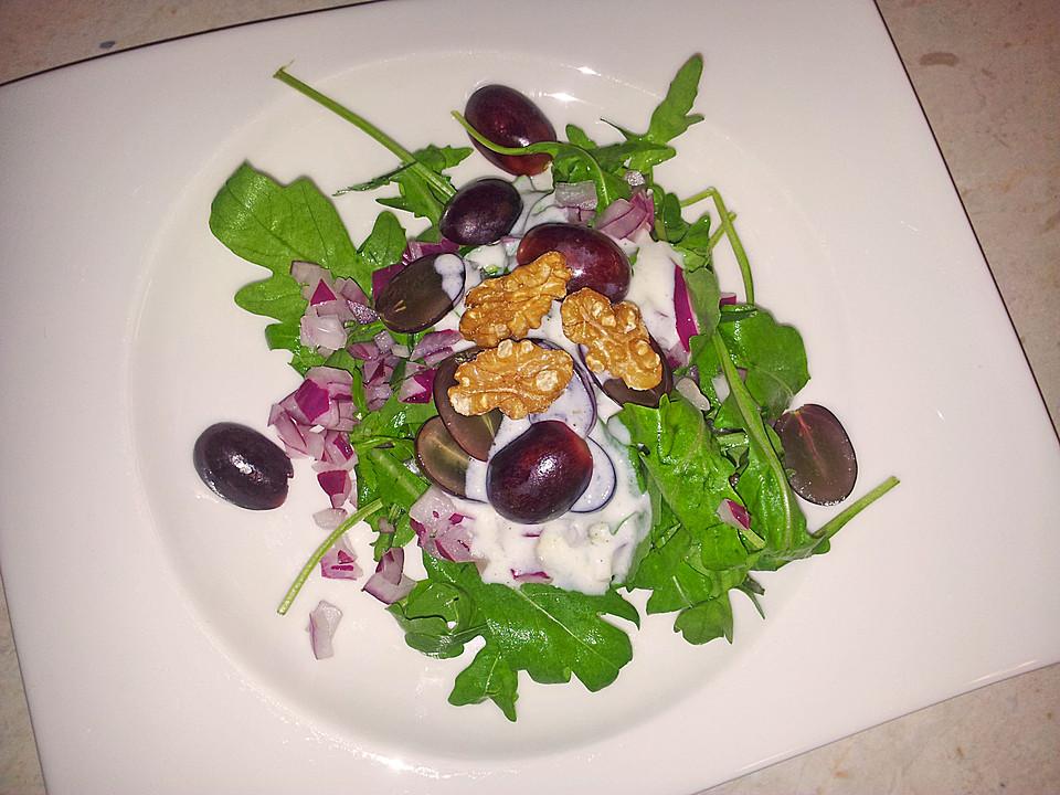 rucola estragon salat mit trauben rezept mit bild. Black Bedroom Furniture Sets. Home Design Ideas