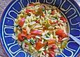 krümeltigers Nudelsuppe mit Paprika und Tomaten