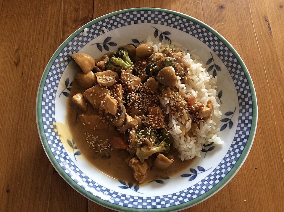 tofu gem se curry mit erdnussso e und reis von sophie berlin. Black Bedroom Furniture Sets. Home Design Ideas