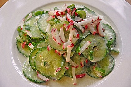 Frühsommerlicher Gurkensalat 11