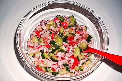 Frühsommerlicher Gurkensalat 13