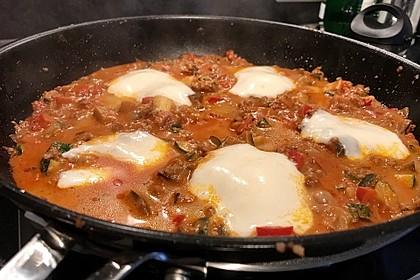 Hackfleischpfanne mit Tomaten und Gemüse 19