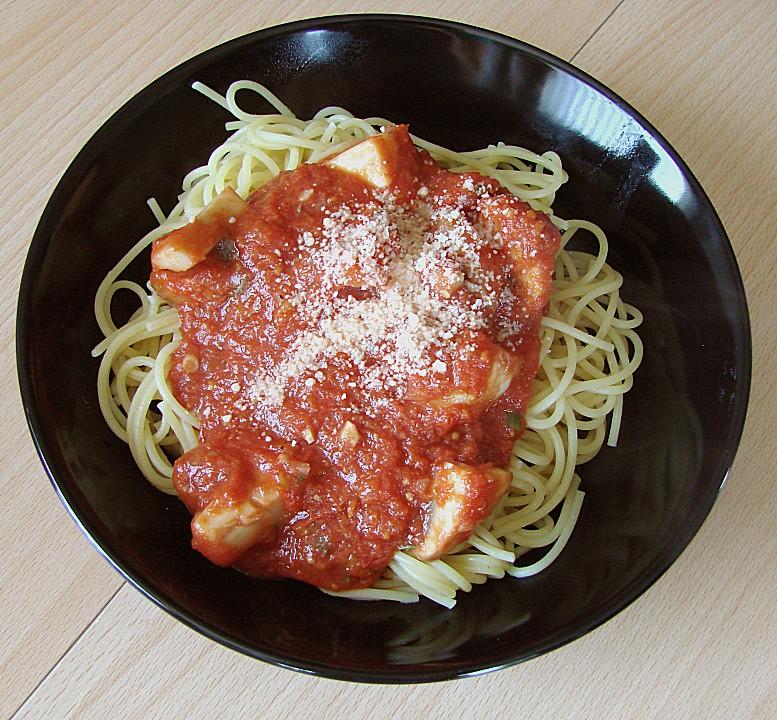 spaghetti mit champignon tomatensauce rezept mit bild. Black Bedroom Furniture Sets. Home Design Ideas