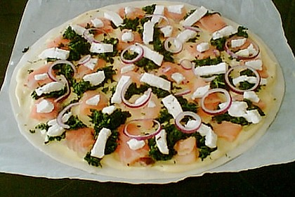 Lachs - Pizza 2