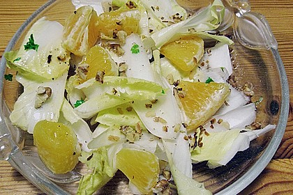 Chicoree - Salat mit Orangen 3