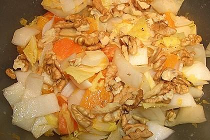 Chicoree - Salat mit Orangen 7