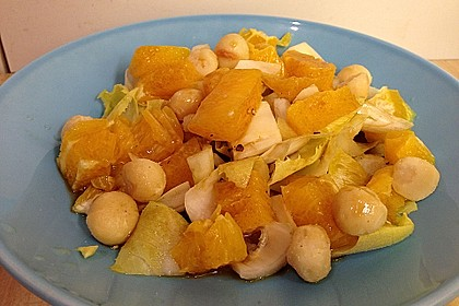 Chicoree - Salat mit Orangen 10