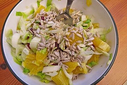 Chicoree - Salat mit Orangen 8