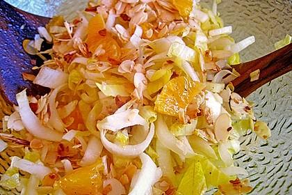 Chicoree - Salat mit Orangen 9