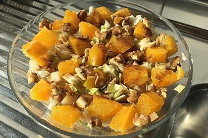 Chicoree - Salat mit Orangen 1