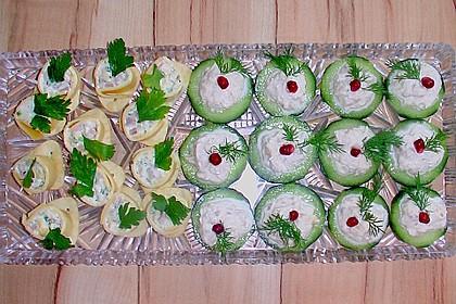 Cracker mit Räucherforellen - Mousse 16
