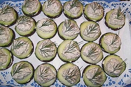 Cracker mit Räucherforellen - Mousse 17