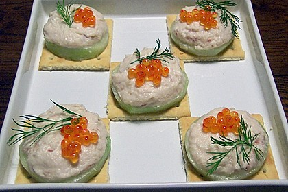 Cracker mit Räucherforellen - Mousse 5